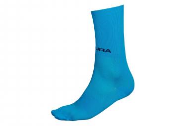 Paire de Chaussettes Endura Pro SL II Bleu Fluo