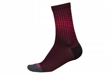 Paire de Chaussettes Endura PT Wave LTD Rouge Bordeaux
