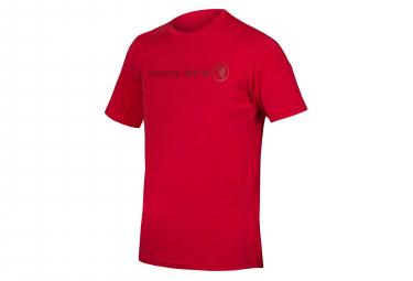Endura Singletrack Merino Tech Tee Red L