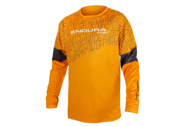 Endura MT500 JR II LTD Kid Long Sleeves Jersey Orange