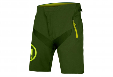Endura MT500 JR II LTD Kid MTB Shorts with Liner Green