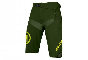 Shorts MTB Endura MT500 Burner II No Liner Green