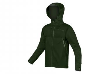 Chaqueta impermeable Endura MT500 verde