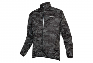 Endura LumiJak II Windbreaker Jacket Black Camo