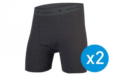 Lot de 2 Sous-Shorts Endura Bike Gris Anthracite