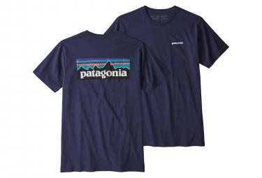 T-Shirt Patagonia P-6 Logo Organic Classic Bleu