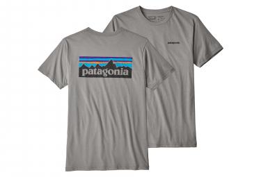 Patagonia P-6 Logo Organic T-Shirt Mens Feather Grey