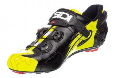 Zapatillas de carretera Sidi Wire Carbon - Negro / Amarillo Vernice