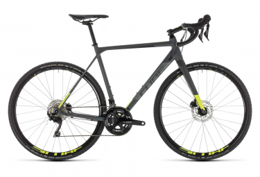 Cube Cross Race Pro Cyclocross Bike Shimano 105 11S 2019 Grey Neon Yellow