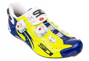 Sidi Wire Carbon Road Shoes - Yellow/Blue Vernice