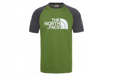 The North Face Tee Shirt Raglan Easy Green Men