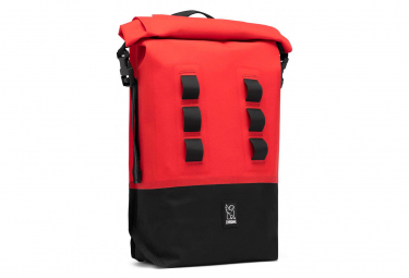 Chrome Urban Ex Rolltop 18L Backpack Black Red