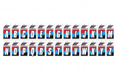 Lettres Pour Plaques BMX Forward Blanc
