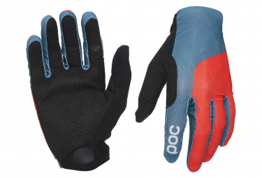 Poc Essential Mesh Gloves Cuban Blue Prismane Red