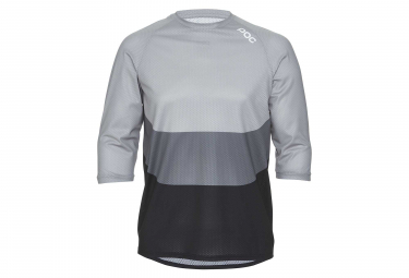 Poc Essential Enduro Light 3/4 Sleeves Jersey Francium Multi Grey