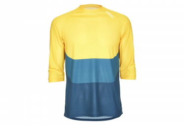 Poc Essential Enduro Light 3/4 Sleeves Jersey Sulphite Multi Yellow
