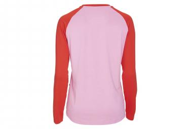 Maillot Manches Longues Femme Poc Essential MTB Rose Altair Rouge Prismane