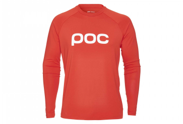 Poc Essential Enduro Long Sleeves Jersey Prismane Red
