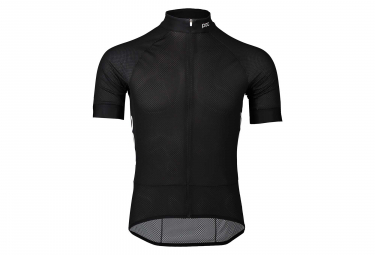 Maillot Manches Courtes Poc Essential Road Light Noir Uranium