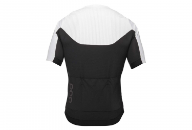 Poc Raceday XC Zipped Short Sleeves Jersey Hydrogen White Uranium Black