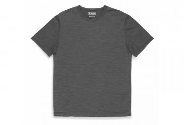 Chrom-Merino-T-Shirt mit kurzen Ärmeln Grau