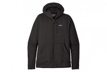 Veste Polaire Technique Patagonia R1 Full-Zip Hoody Black