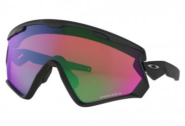 Oakley Sunglasses Wind Jacket 2.0 / Matte Black/ Prizm Snow Jade Iridium / Ref : OO9418-0145