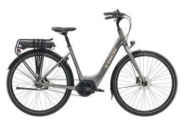 Vélo de Ville Électrique Femme Trek UM4+ Lowstep Shimano Nexus 7V 500 Gris / Noir 2019