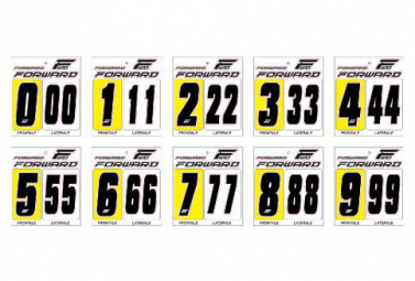 Forward Number Kit Front Plate Black 8