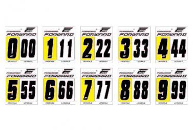Numéro pour Plaque Forward Noir