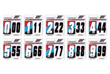 Numéro pour Plaque Forward Blanc