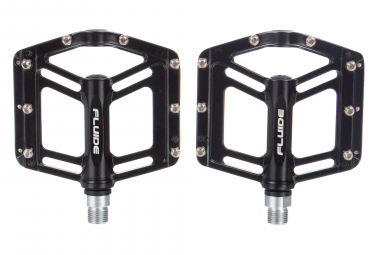 Fluide Contact Flat Pedals - Aluminium Black