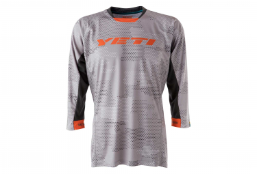 Yeti Enduro 3/4 Sleeves Jersey Light Grey Orange
