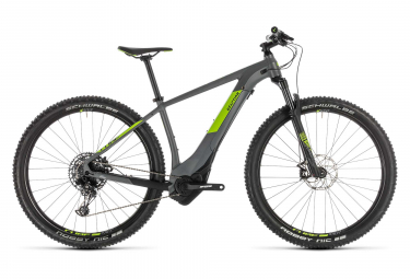 Cube Reaction Hybrid Eagle 500 Electric Hardtail MTB Sram NX Eagle 12S 27.5'' Plus 2019 Grey Green