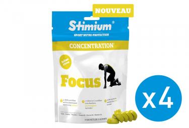 Pack 3+1 Offert Gommes Energétiques Stimium Focus Citron 3x5 gommes
