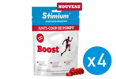 Pack 3+1 Offert Gommes Energétiques Stimium Boost Cerise 3x5 gommes