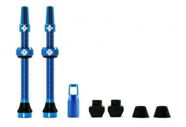 Valves Tubeless Muc-Off Aluminium 60 mm Bleu