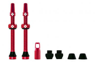 Valves Tubeless Muc-Off Aluminium 60 mm Rouge