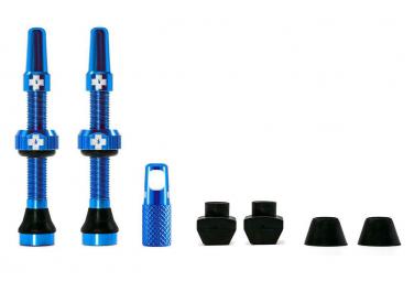 Valves Tubeless Muc-Off Aluminium 44 mm Bleu