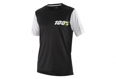 Maillot Manches Courtes 100% Ridecamp Noir