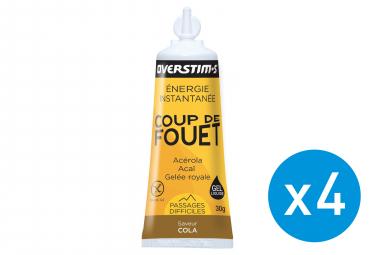 Bundle 3+1 Free OVERSTIMS Energy Gel LIQUID COUP DE FOUET Cola