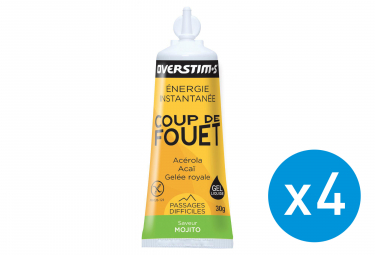 Bundle 3+1 Free OVERSTIMS Energy Gel LIQUID COUP DE FOUET Mojito