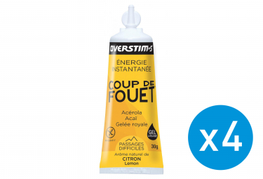 Bundle 3+1 Free OVERSTIMS Energy Gel LIQUID COUP DE FOUET Lemon