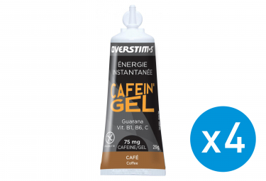Bundle 3+1 Free OVERSTIMS Energy Gel CAFEIN'GEL Coffee