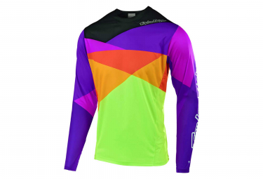 Troy Lee Designs Sprint Jet Youth Long Sleeves Jersey Orange Purple Neon Yellow