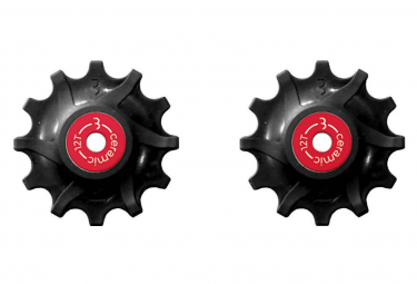Galets Roulements Céramique BBB RollerBoys 12 Dents Sram Narrow-Wide Noir