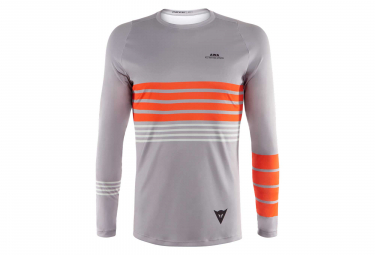 Dainese Awa 2 Long Sleeves Jersey Drizzle Grey Cherry Tomato Orange