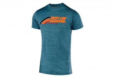 TROY LEE DESIGNS T-Shirt Flowline Velo Lagoon Turquoise Blue