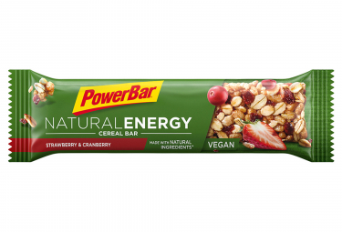 Barre Energétique Powerbar Natural Energy Cereal 40gr Fraise Cranberry