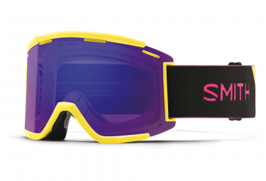 Masque Smith Squad XL MTB Jaune - Violet Miroir ChromaPop Everyday